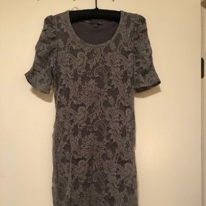 Forever 21 knee length grey lace dress